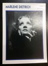 German Actress Marlene Dietrich French Film Star Trade Card