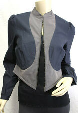 "$$$$ BCBG NAVY ""LCU40872"" LONG SLEEVE ZIPPER COTTON JACKET TOP NWT XS"