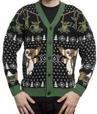 Gremlins Official Knit Holiday Christmas Cardigan Ugly Sweater - Men's XL