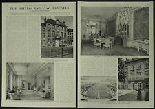 History Of British Embassy Rue Ducale Brussels Belgium 1958 4 Page Photo Article
