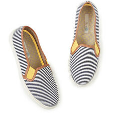New Boden Canvas Slip On Trainers – UK Size 3 – EU 36 – striped