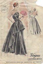 1948 Vintage VOGUE Sewing Pattern B38 EVENING DRESS/GOWN (1327)