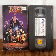 Puppet Master 4 VHS Movie Film Tape Horror Gore Slasher Full Moon 1993