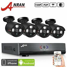 Anran 4 System Channel Security Camera Nvr 720p Wireless Outdoor Dvr Kit Cctv