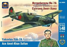 ARK MODELS 48005 YAKOVLEV YAK-7A RUSSIAN FIGHTER ACE AMET-KHAN SULTAN 1/48 NEW