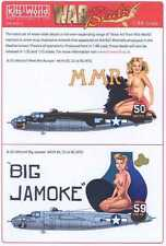 Kits World Decals 1/48 B-25J MITCHELL Bomber Meet Miss Runyon & Big Jamoke
