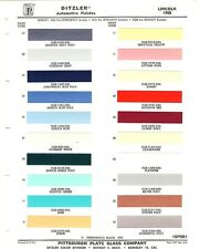 1958 LINCOLN CONTINENTAL MARK III PREMIERE CAPRI PAINT CHIPS (PPG-DITZLER)
