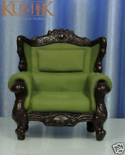 "1:6 Scale Green Plastic Leather Sofa Furniture For 12"" Doll Barbie Action Figure"