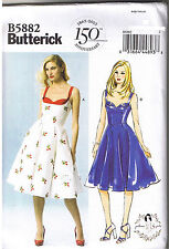 Vtg 50s Retro Sun Dress Butterick 5882 Sewing Pattern by Gertie Sz 4 6 8 10 12