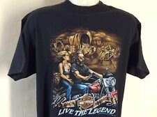 Vtg 1992 3D Emblem Harley Davidson T-Shirt XL 90s Live The Legend Germany