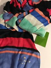 KATE SPADE NEW YORK Tropical STRIPED OBLONG SCARF
