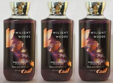 LOT 3 TWILIGHT WOODS BATH & BODY WORKS BODY WASH SHOWER GEL 10 FL OZ SHEA VIT E