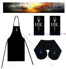 Hell's Kitchen BBQ Apron And Oven Gloves And 2 Tea Towel Cook Set Gift