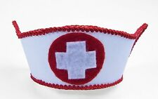 Mini Nurse Fancy Hat Vintage Military Army Cap Red White Costume Accessory NEW