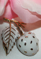 LOVELY TRIFARI SIGNED ENAMEL CHERRY PIN IN EXCELLENT CONDITION!!!!!