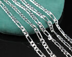 "Fashion 1pc High Quality Silver 2mm Men Italy Figaro Chain Necklace 16-30"" G012"