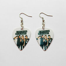 5 SECONDS OF SUMMER 5SOS guitar pick plectrum pick SILVER PLATED EARRINGS