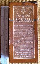 RARISSIMA SCATOLA IN CARTONE IODOS WASSERMANN SOLUZIONE TITOLATA SISFT ANNI '30