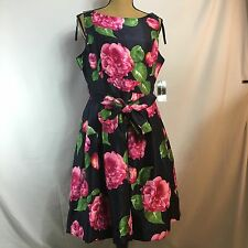 NWT Polyester Jessica Howard Floral Pink Rose Size 12 Missy
