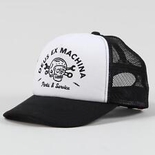 Deus Ex Machina Carlo Trucker Cap Black White Mesh Skull Original Design