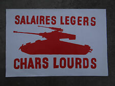Affiche mai 68 SALAIRES LEGERS CHARS LOURDS french poster 1968