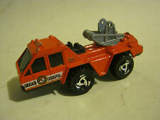 Hot Wheels White Fire Dept Flame Stopper #31, dated 1988, Fair (EB2-20)