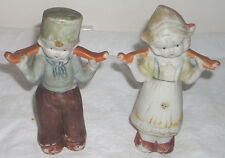 "Vintage 5"" Dutch Boy & Girl Bisque Figurines Japan"