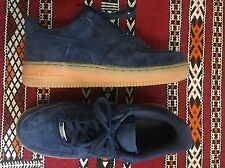 Navy/midnight Suede Nike Air Force 1 With Gum Sole. Size UK 5