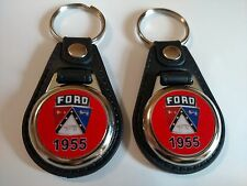 1955 FORD KEYCHAIN 2 PACK FOR GALAXY F100 THUNDERBIRD FAIRLANE FALCON red
