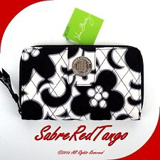 NWT VERA BRADLEY QUILTED TURN LOCK WALLET FLORAL NIGHT & DAY