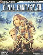 FINAL FANTASY XII 12 PS2 BradyGames Official Strategy Guide 2006 with NEW POSTER