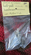 """New Stitch N Count Graduation Brass Pair of  5"""" Bell Pulls Needlepoint Highland"""