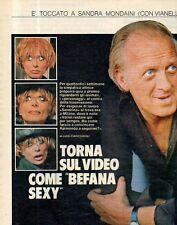Ga3 Clipping-Ritaglio 1978 Sandra Mondaini Torna sul video come Befana Sexy