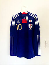 JAPAN 2010 HOME LS #10 KAGAWA TECHFIT MATCH ISSUED UN WORN SHIRT JERSEY TRIKOT