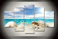 Shell Exotic Beach print canvas  5 pieces