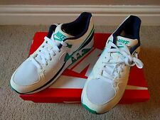 NIKE AIR STAB WHITE EMERALD GREEN NAVY TRAINERS SIZE 8 EUR 44.5 NEW £95