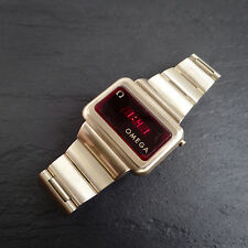 Omega Digital 1 Cal. 1602 LED RARE Vintage 1970s Gold Fill WORKING & Full Size