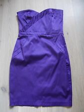 Jane Norman Purple Smart Sweetheart Neckline Strapless Dress - Size 8