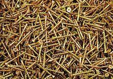(700) Torx T20 Star Flat Head 8 x 1-5/8 Yellow Zinc Type 17 Outdoor Wood Screw