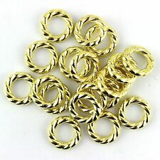 50 pieces/lot gold color plastic twist style pendant scarf jewelry rings