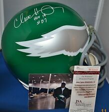 CLAUDE HUMPHREY SIGNED CUSTOM FACEMASK F/S HELMET PHILADELPHIA EAGLES HOF 14 JSA