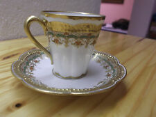 Superb 19th Century Theodore Haviland Limoges Porcelain Demitasse Cup & Saucer