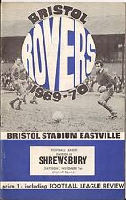 Bristol Rovers v Shrewsbury - Div 3 - 1969 - Football Programme