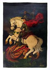 Saint Painting by Suzanna Andrade - Saint George and Dragon - Brazil Folkart St.