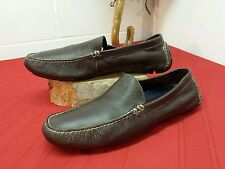 MEN'S LEATHER RALPH LAUREN POLO SLIP ON LOAFER SHOES SIZE- See Measurements
