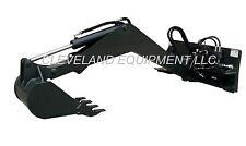 NEW SWING ARM BACKHOE ATTACHMENT Excavator Skid Steer Loader John Deere Takeuchi