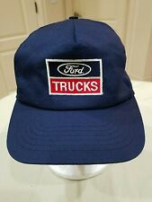 Vintage Ford Embroidered Red White & Blue Snapback Trucker Truck Hat Cap USA