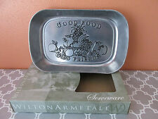 New Wilton Armetale Good Food Good Friends Large Bread Plate Tray Platter