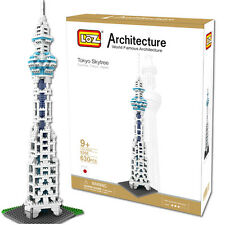 LOZ World Gamous Architecture Tokyo Skytree Tower Model Buidling Blocks Toy  G8