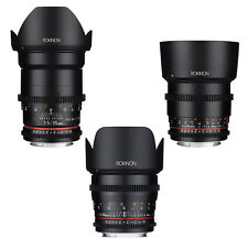 Rokinon Cine DS T1.5 Essential Cine Lens Kit for Canon EF - 35mm + 50mm + 85mm